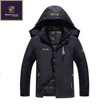 Новая зимняя куртка мужской/женский пуховик Водонепроницаемый ветрозащитная куртка для отдыха плюс плотный бархат теплая куртка пальто 4XL 5XL 6XL