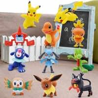 3-4 Centimetri 2 ''Pikachu Squirtle Charmander Eevee Popplio Torchic Treecko Riolu Rotom Rowlet Litten Anime Action Figure bambola Giocattoli