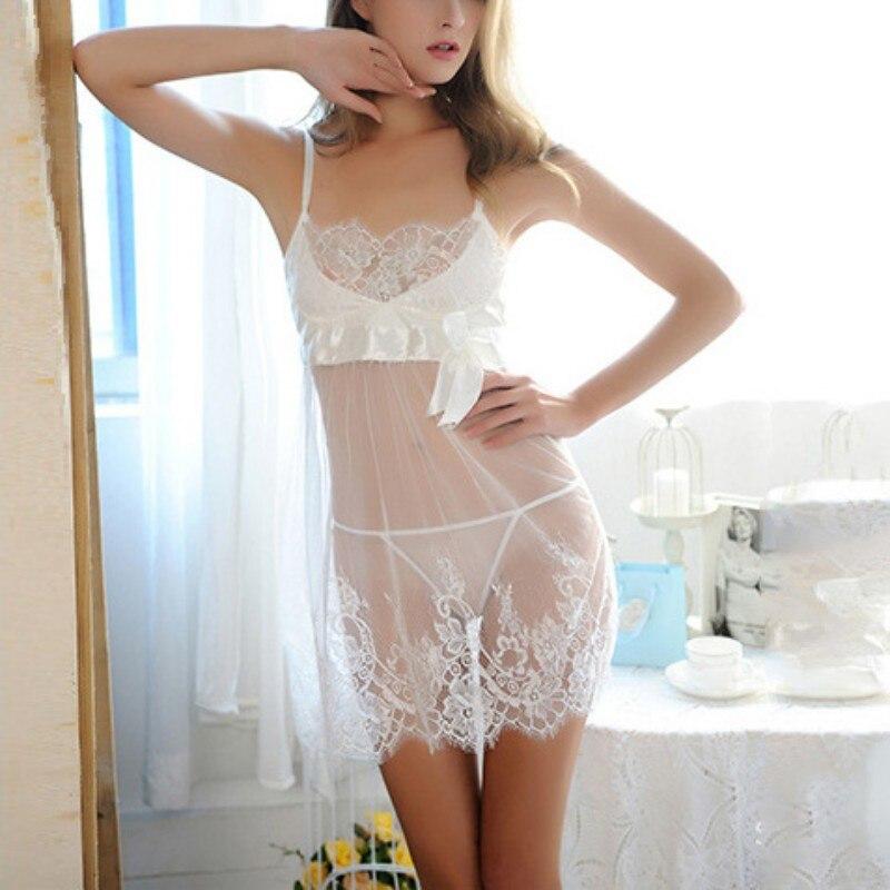 Womens Costumes Lace Lingerie G-string Sexy Nightwear Underwear Female Babydoll Sleepwear Plus Size 3XL