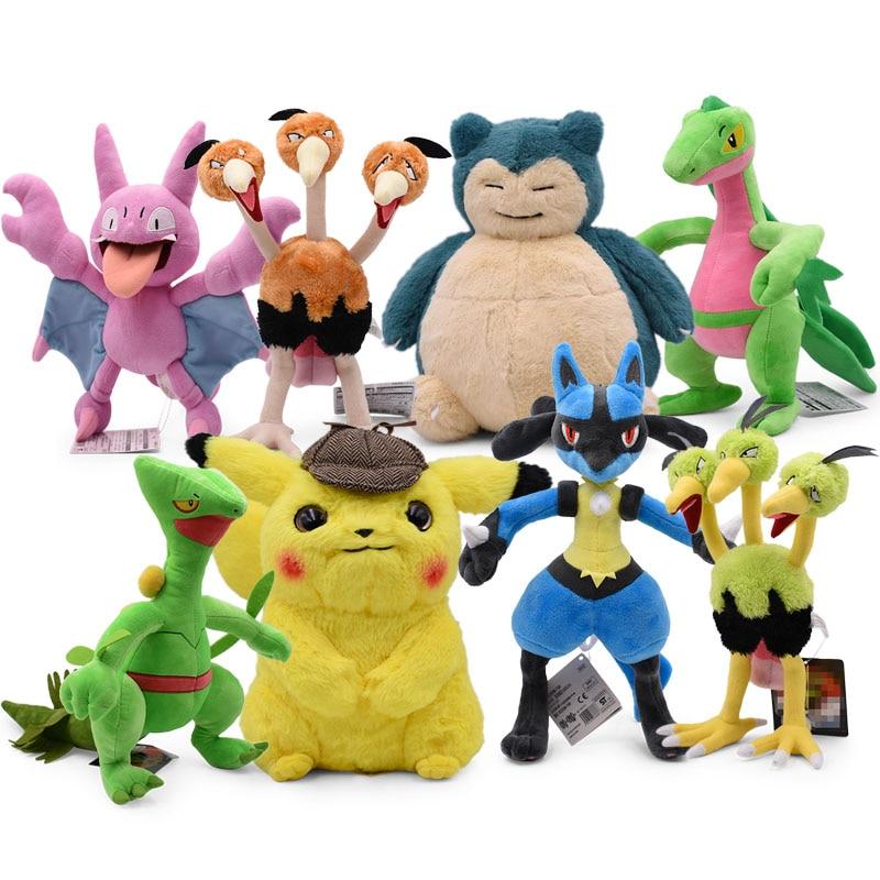 Pikachu Plush Toys Snorlax Lucario Zubat Dodrio Pancham Sceptile Cute Anime Children's Gift Kids Cartoon Peluche Doll
