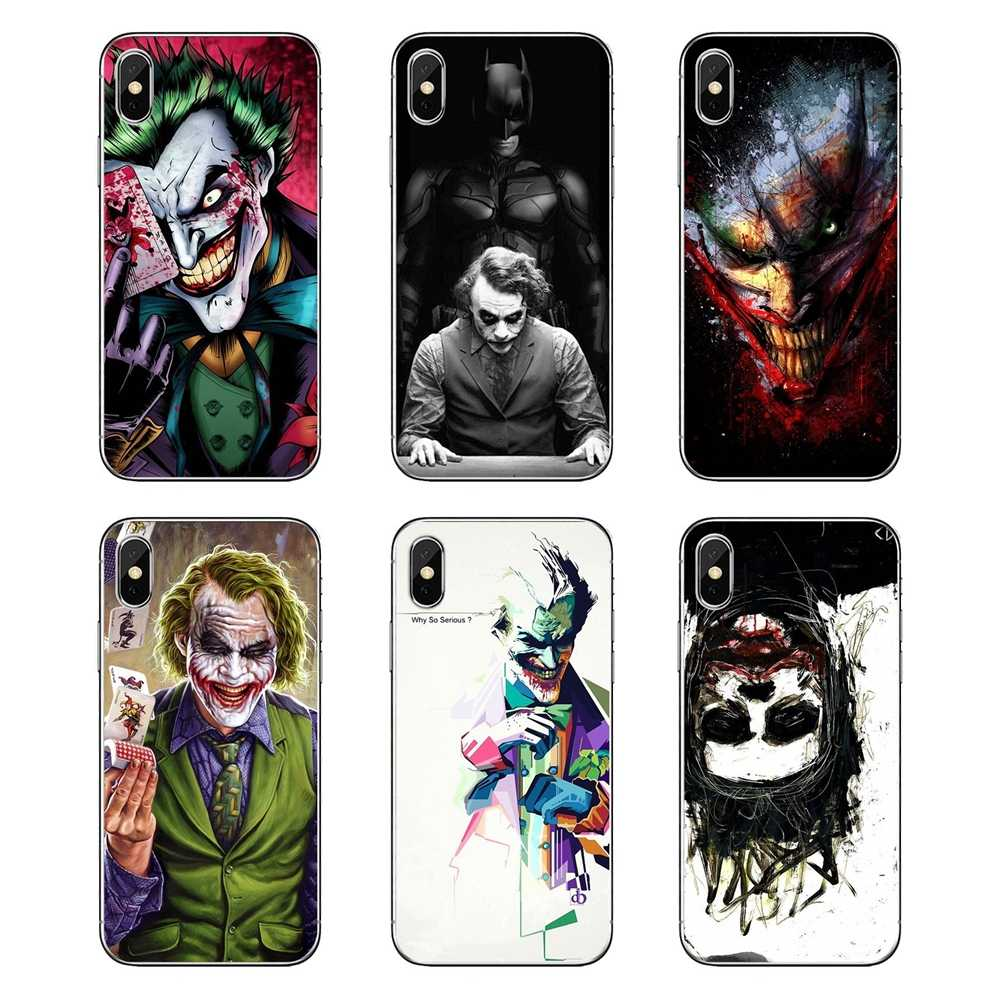 Joker Batman The Killing Joke Face Dc Comics Art TPU Shell Cases For Xiaomi Redmi 4X S2 3S Note 3 4 5 6 6A Por Pocophone F1 Mi 6