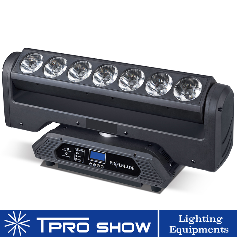 Lyre Moving Head LED 7x15W Infinite Rotation Moving Pixel Bar Magic Beam Wash Light Equipment For Professional Lights Stage Show