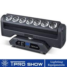 Новый движущаяся головка светодиодный 7×15 Вт бесконечное вращение движущаяся полоса со светодиодами Волшебный луч размытого света оборудование для профессиональные светильники сценическое шоу