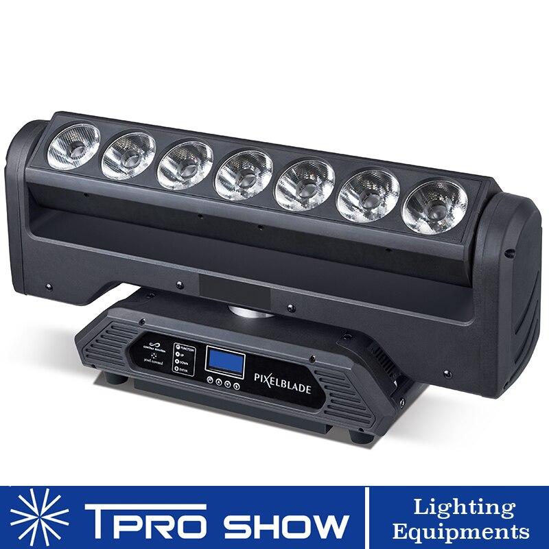 Nuovo Testa Mobile HA CONDOTTO 7x15 W Rotazione Infinita In Movimento Pixel Bar Magia Wash Fascio di Luce Attrezzature per Professionale luci luci del Palco Spettacolo