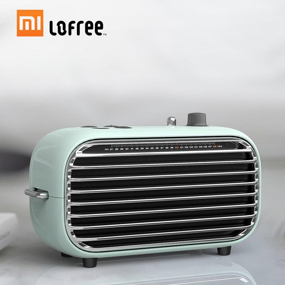 Xiaomi Lofree Bluetooth Speaker Retro Portable Wireless Speaker FM Radio Soundbox Bass Speakers Audio Player Music