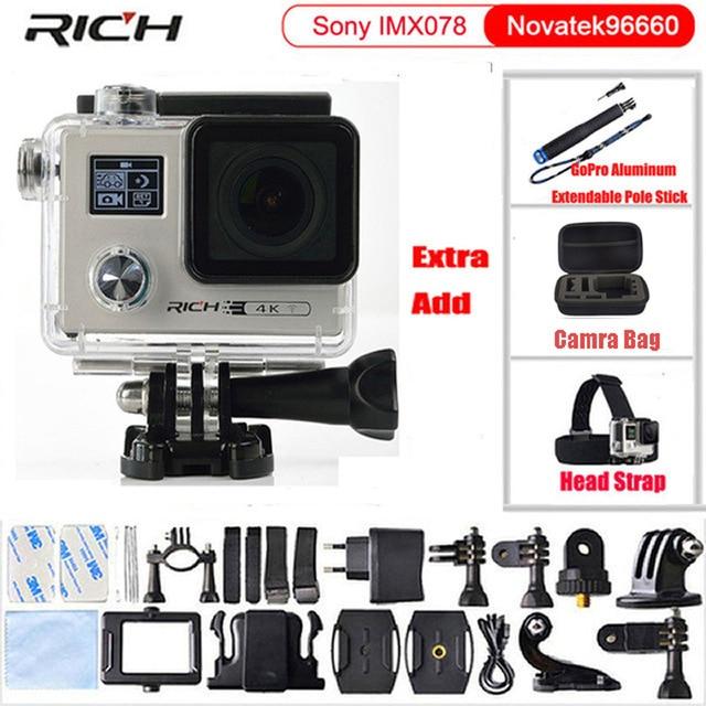 Action Camera 4k 2.0 inch Dual Screen Sports DV Ultra HD Diving 30M Waterproof mini Camcorder F88 Sports Camara тв модуль ci триколор k m evr единый ultra hd европа