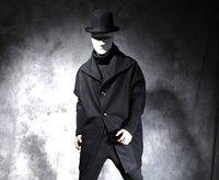 Новая зимняя человек хан издание метров в длину темно ткань пальто и большой свитер с рукавами «летучая мышь» шерстяное пальто. S 5XL!