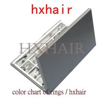 Freeshipping 20pcs Color Chart Of Rings Micro Ring Links Pre Bonded I Tip Hair Extension Tools