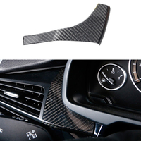 100 Real Carbon Fiber Left Air Vent Outlet Cover Trim For BMW X5 F15 2014 2017
