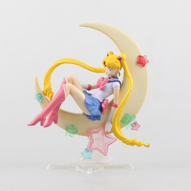 Figure Sailor Moon Figure Tsukino Usagi PVC Action Figure Collectible Model Doll 15CM Cartoon Brinquedos anime cartoon zero pretty guardian sailor moon tsukino usagi 20th anniversary pvc action figure collectible toy 21cm