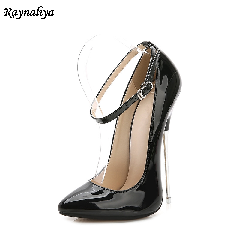 Ladies Metal Heels Pumps Shoes Women Big Size 35-44 Spring Autumn Pointed Toe Fashion Party Causal High Heel Shoes MS-B0028 стоимость
