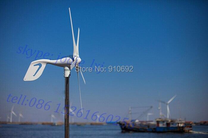 5 ostrza 3 ostrza mały generator turbiny wiatrowej dla wiatr słoneczny hybrydowy latarni system 400 w 12 v/24 v/48 v