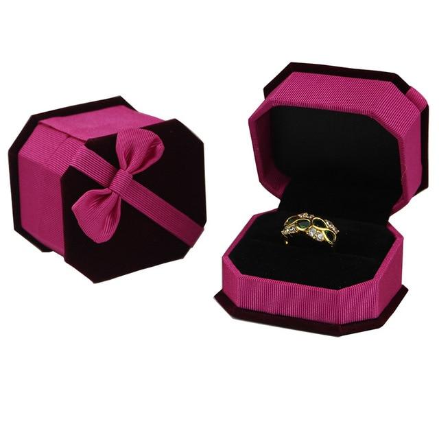Five Color Velvet Cufflink Gift Box Case