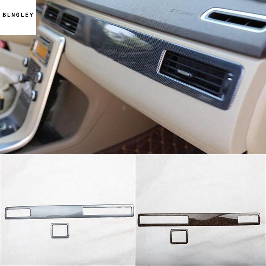 2pcs/lot ABS carbon fiber grain or wooden grain Passenger side dashboard decoration cover for 2007-2016 Volvo S80 [sa]takenaka frs2053 fiber line genuine 2pcs lot