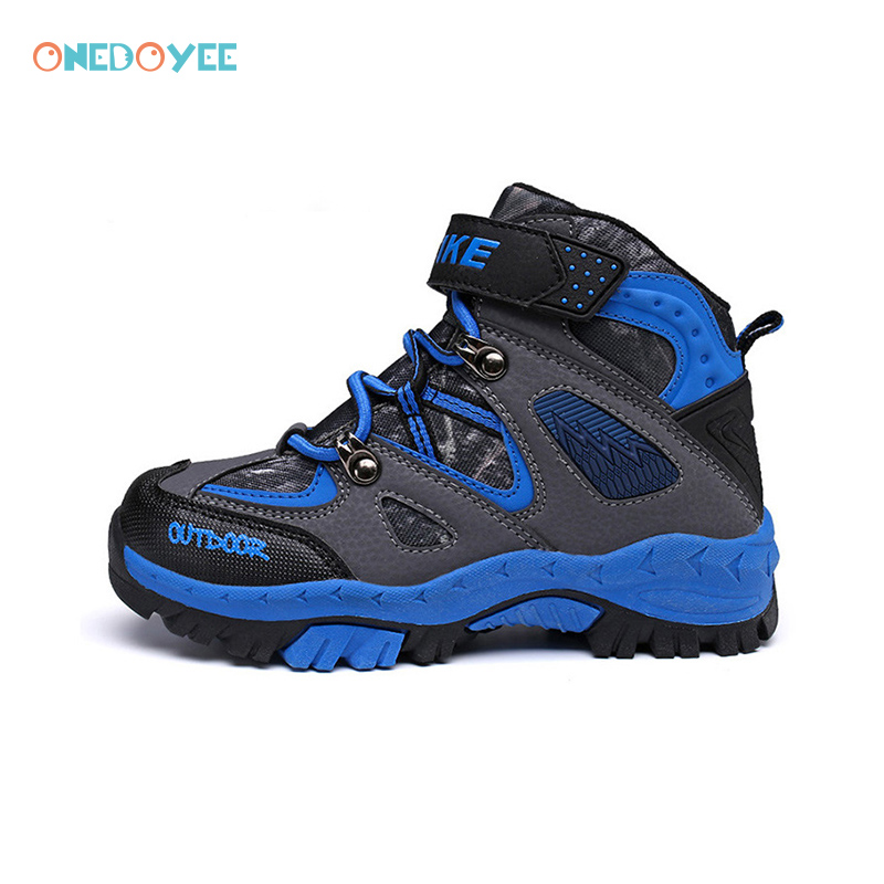 ONEDOYEE Children Outdoor  Walking Shoes Antiskid Claw Kids Thick Winter Sneakers Non-Slip Boys Girls Shoes Waterproof babyfeet children shoes little girls shoes toddler shoes baby boys sneakers casual non slip sports shoes breathable size 26 30