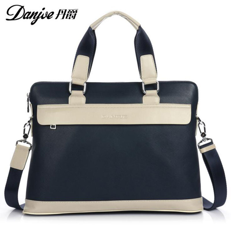 DANJUE New Style For iPad/Macbook Fashion Shoulder Bags High Quality Oxford Cloth Solid Men Women Notebook Bag DJ19 Blue