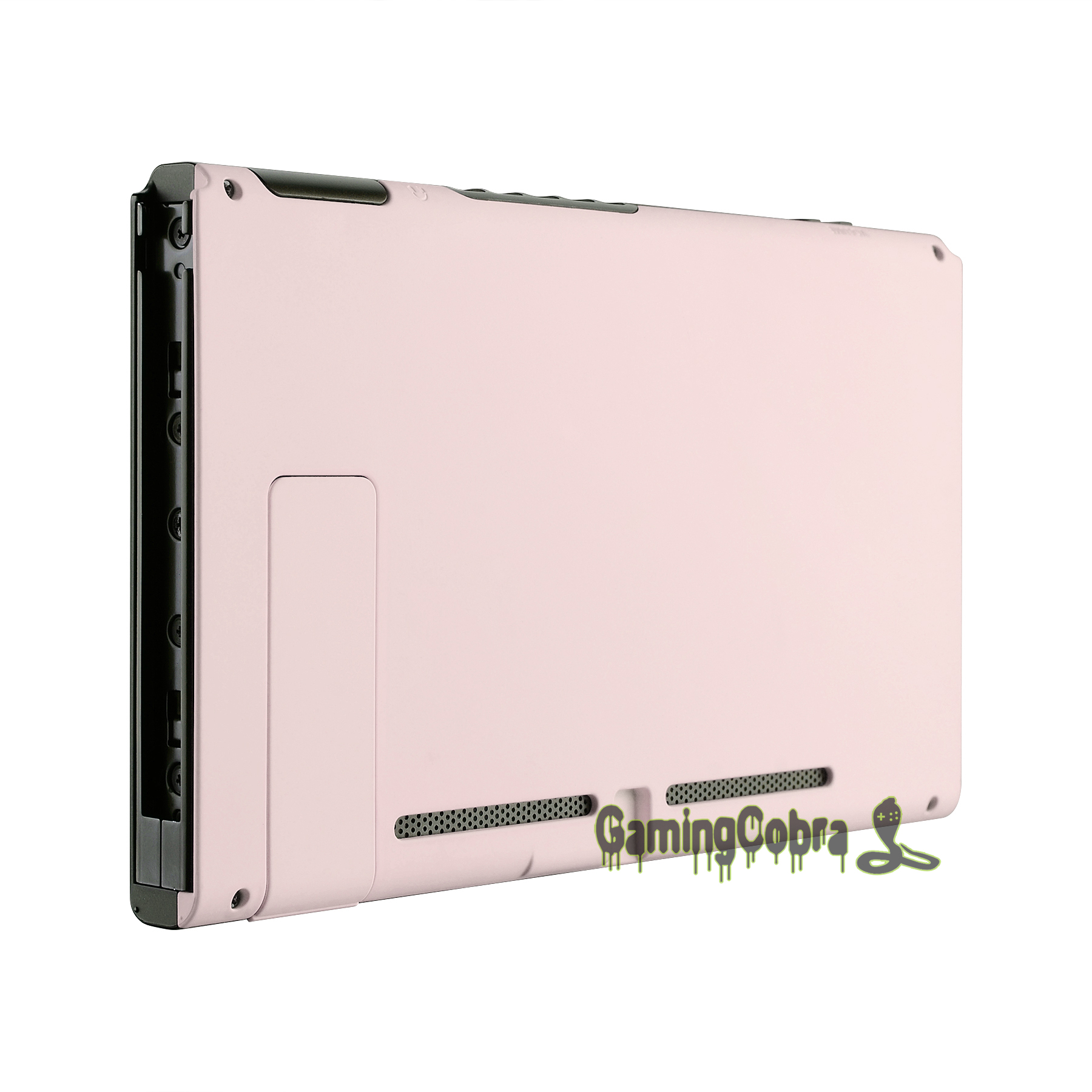 Soft Touch Grip Sakura Pink Console Back Plate DIY Replacement Housing Shell Case for Nintendo Switch Console w/ Kickstand ZP306