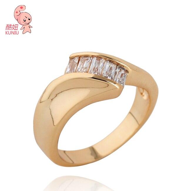 Italian Design white zircon Jewelry ring for fashion womenKUNIU