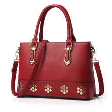 Shunvbasha 2016 New Luxury Fashion Women Leather Handbags Famous Brand Designer Rivet Tote Bags Lady Business Work Shoulder Bag