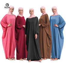 Buytiz UAE Kaftan Abaya Dubai Arabic Islam Turkey Long Black Pink Muslim Hijab Dress Abayas Women Turkish Islamic Clothing