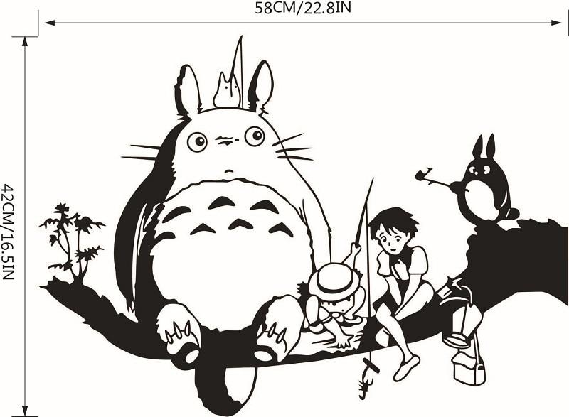 Online Shop Hayao Miyazaki Animation Ghibli Totoro Wall Stickers