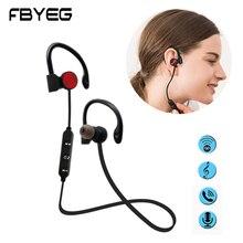 Bluetooth наушники беспроводные Bluetooth гарнитура спортивные наушники супер стерео басовые наушники Sweatproof с микрофоном по FBYEG