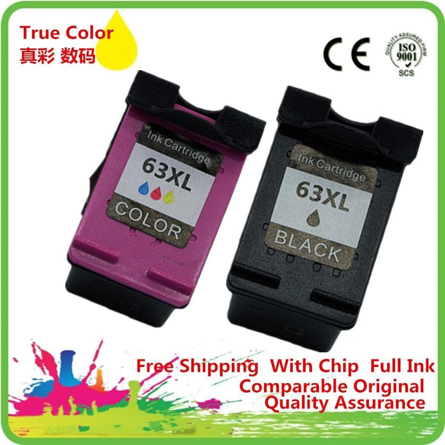 2 x Ink Cartridge Remanufactured For HP HP63 HP63XL 63 XL 63XL DESKJET 1112 2130 2132 3630 3632 ENVY 4516 4512 4520 4522 Printer