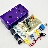 NEW DIY Fuzz& Distortion Pedal All Kit With 1590B Style Aluminum Box, True Bypass for Bass Guitar Free Shipping