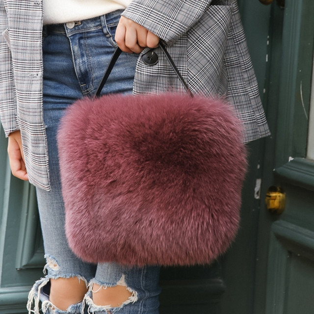 2018 зимние сумки на плечо для женщин ведро искусственный мех женские сумки известных брендов роскошные дизайнерские Рождественский подарок