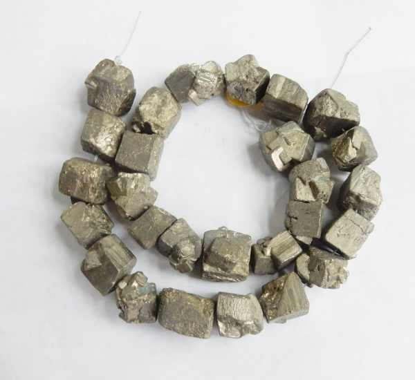 Charming 15mm freeform Raw nuggets pyrite Beads Approx 25Pcs