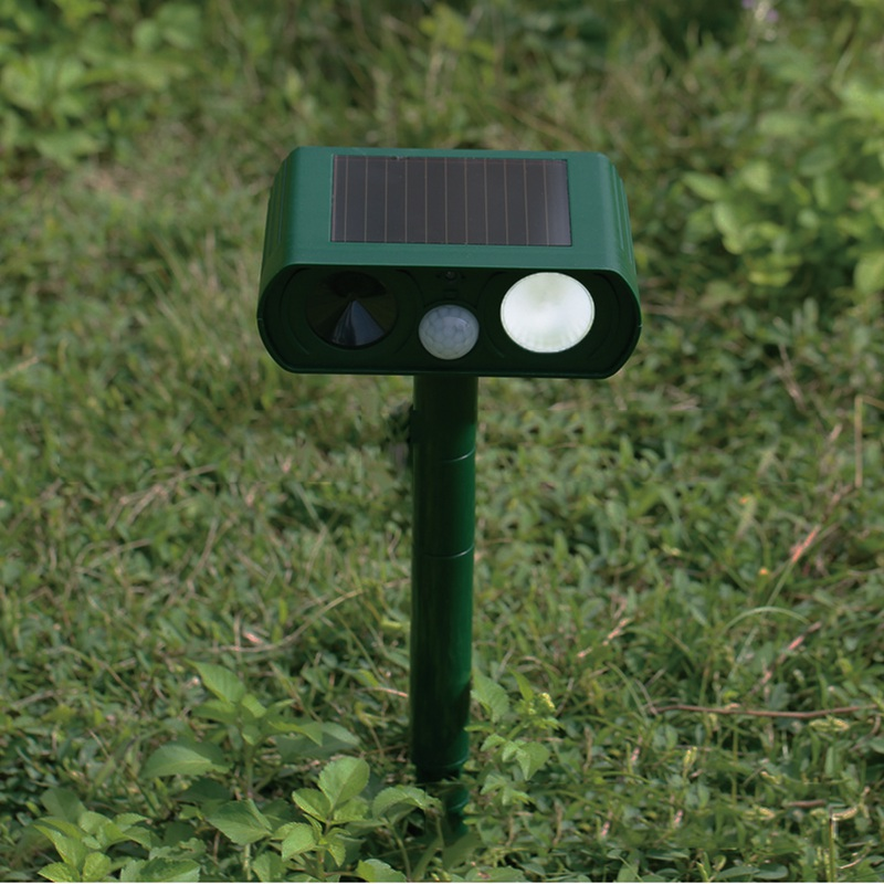 Mising Ultrasonic LED Solar Light Outdoor Gaeden Lamp Flash Solar Power Pest Rats Dog Cat Mouse Repeller Repellent
