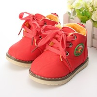 Fashion Children Boots Boys Girls Snow Boot Shoes Kids Spring Autumn High Quality Comfy Baby Martin