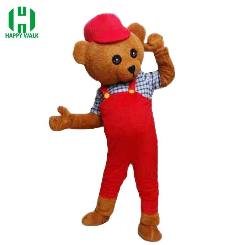 Haute qualité 2019 nouveauté adulte ours en peluche mascotte Costume fantaisie robe Costume dessin animé mascotte chasse mascotte Costume livraison gratuite