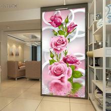 30 * 56cm 5D diy ročno diamantno slikarstvo roza vrtnica okroglo diamantno vezenje slikarstvo križno šivanje ročno obrt obrt doma