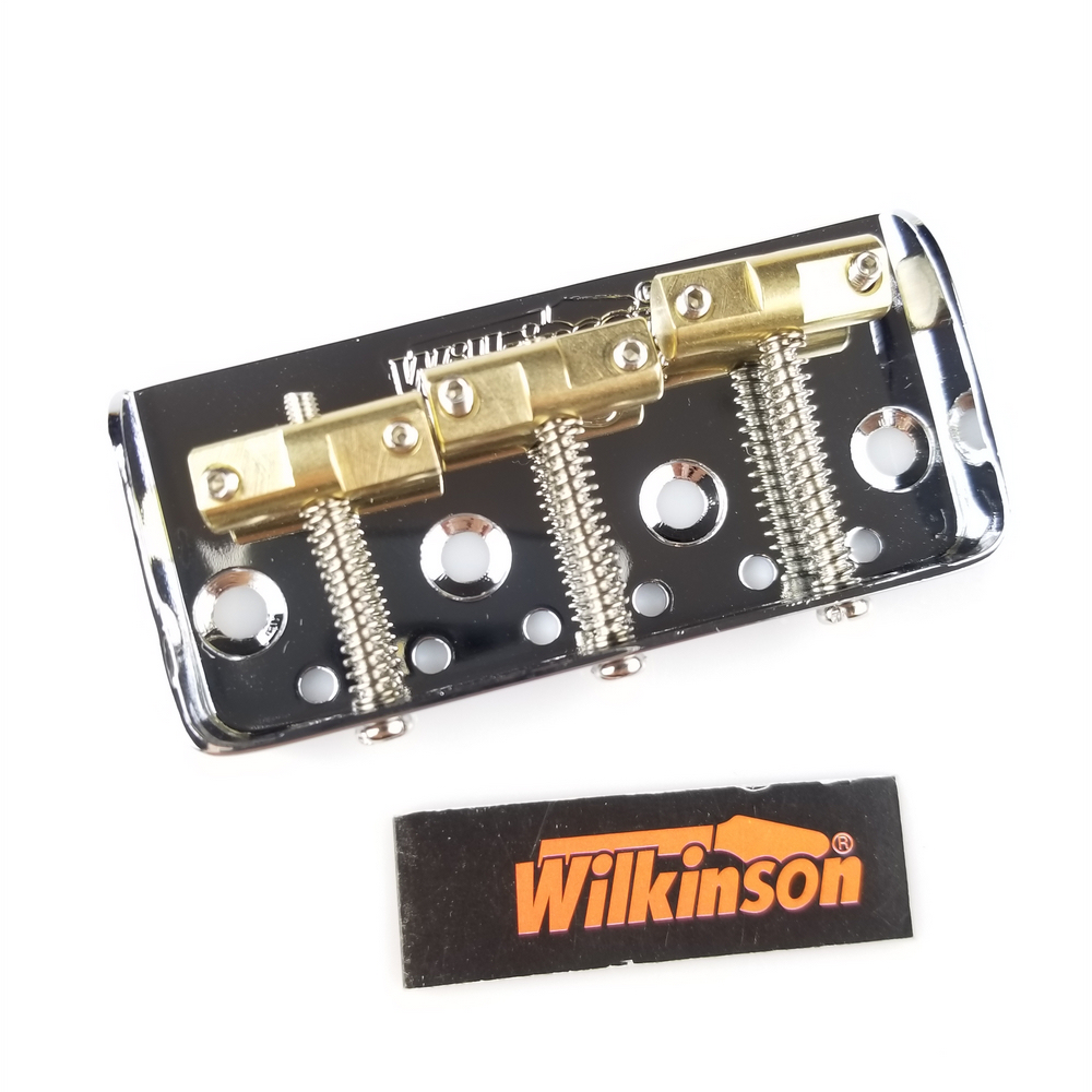 Wilkinson WTBS 6Strings Guitar Bridge Short TL Electric Guitar Bridge Brass Saddle Chrome  silver a set chrome vintage shape saddle bridge for 5 string electric bass guitar top load or strings through body