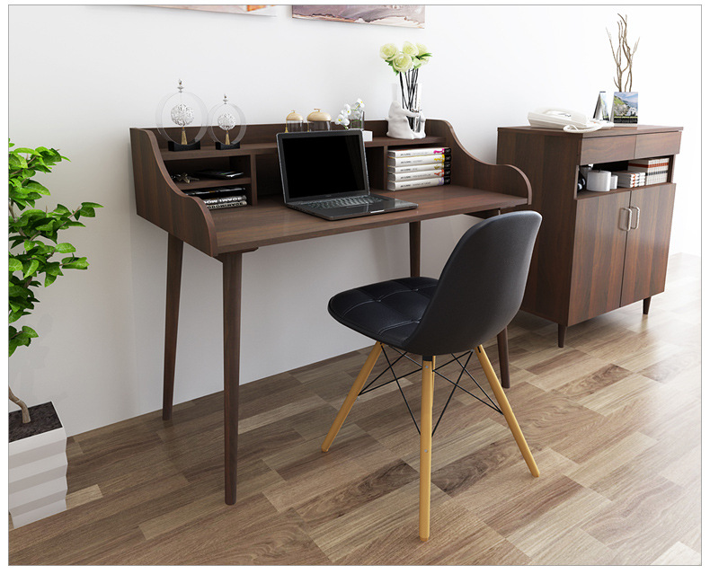 Computer Desks Office Home Furniture Solid Wood Notebook Desk Soporte 120 101 Cm Study Table Ordenar Cajones Bookcase In Laptop From