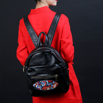 XIYUAN BRAND luxury and fashion chinese national vintage flower Genuine Leather ethnic embroidery bag embroidered backpack s xiyuan brand luxury and fashion chinese national vintage flower genuine leather ethnic embroidery bag embroidered backpack s
