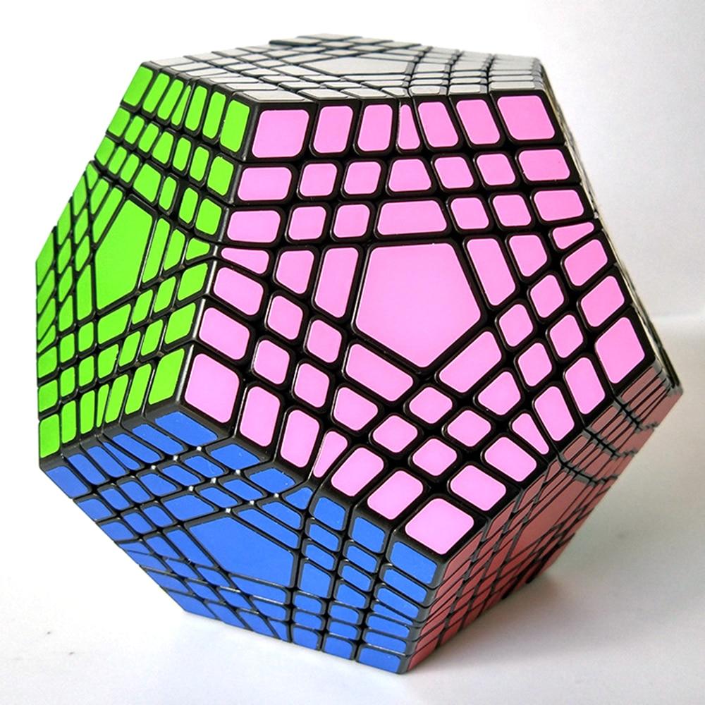 7x7x7 Noir Professeur Concurrence Cube Magic Speed Cube Puzzle Jouets Éducatifs pour Enfants