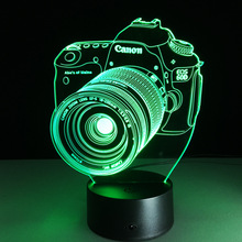 3D LED colorful remote control lamp