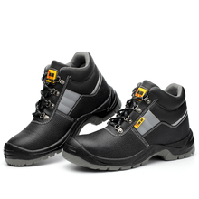 AC13005 High Upper Working Classic Mens Safety Shoes With Leather Steel Toe Anti-stabbing Anti-skid Anti-static Acecare