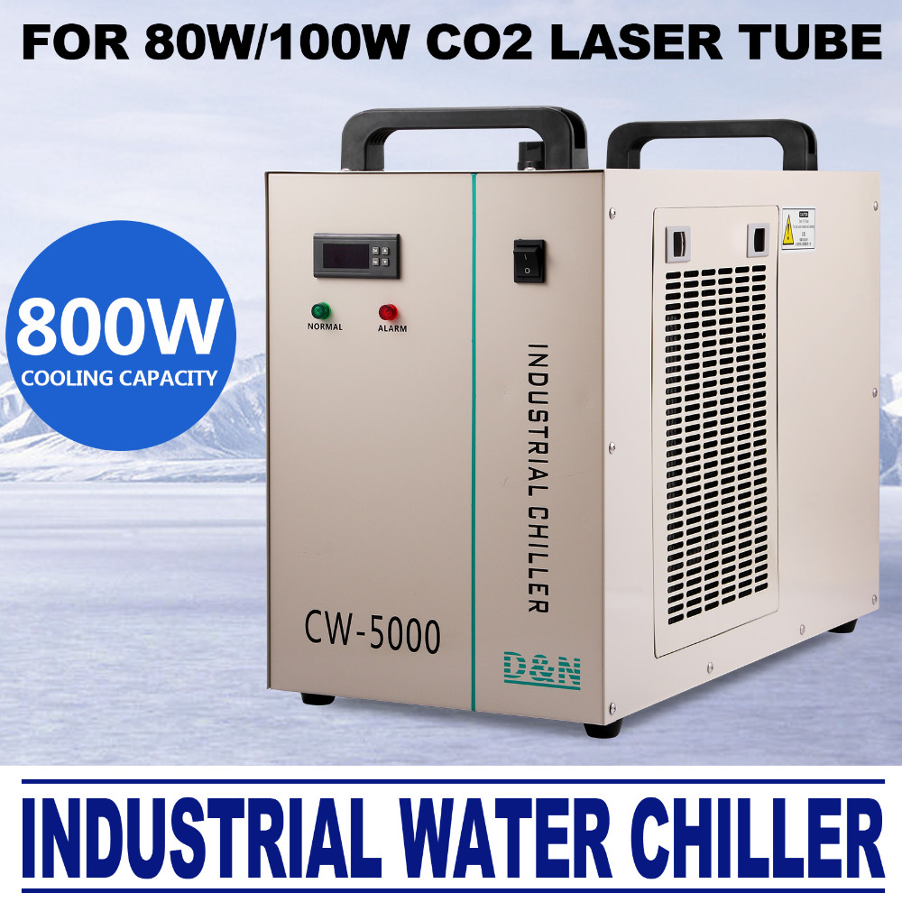 CW-5000 Industrial Water Cooler Cooler Co2 Laser Hose Chiller 6L Tank
