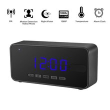 ФОТО t8 mini camera full hd 1080p clock camera accurate motion detection pir dvr smart ir night vision table alarm clock camera