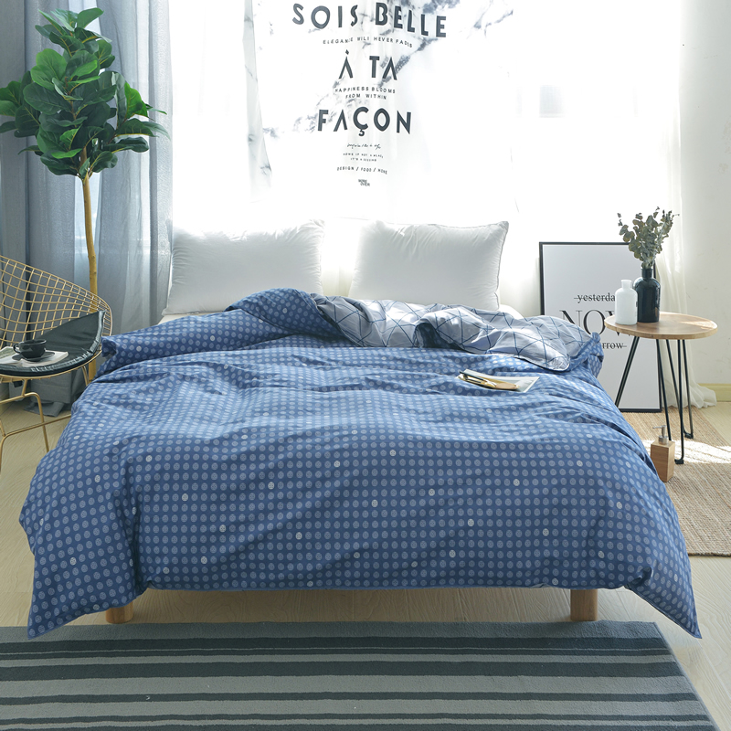 Modern Style Blue Circle Pattern Bedding Full Queen King Size Duvet Cover Fiber Reactive Prints Quilt Cover Only Quilt Cover
