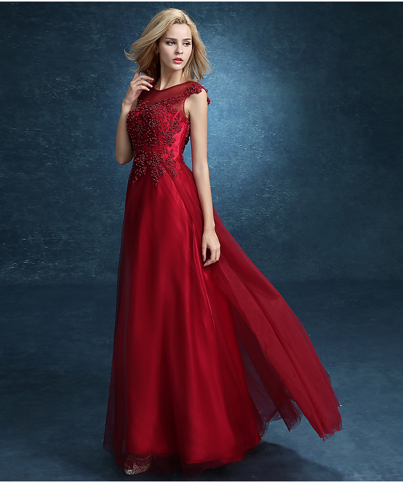 Liquidación Ssyfashion Vestido De Noche Vino Rojo Casado