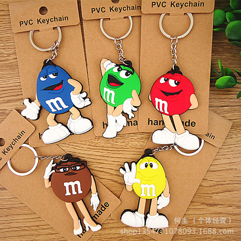 IVYYE 1PCS 9CM Chocolate bean Anime Action Figure Model PVC Collection Cute Cartoon Figures Toys Keychain Unisex Gifts
