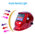 Red Cover Solar Welders Auto Darkening Welding Helmet Mask with Grinding Function Ideal for ARC/MIG/TIG/Stick Welding