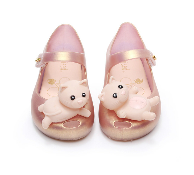 2850870ff 2018 new products lovely Cartoon jelly cold shoes Korean version summer  soft bottom girls sandals Super soft and comfortable
