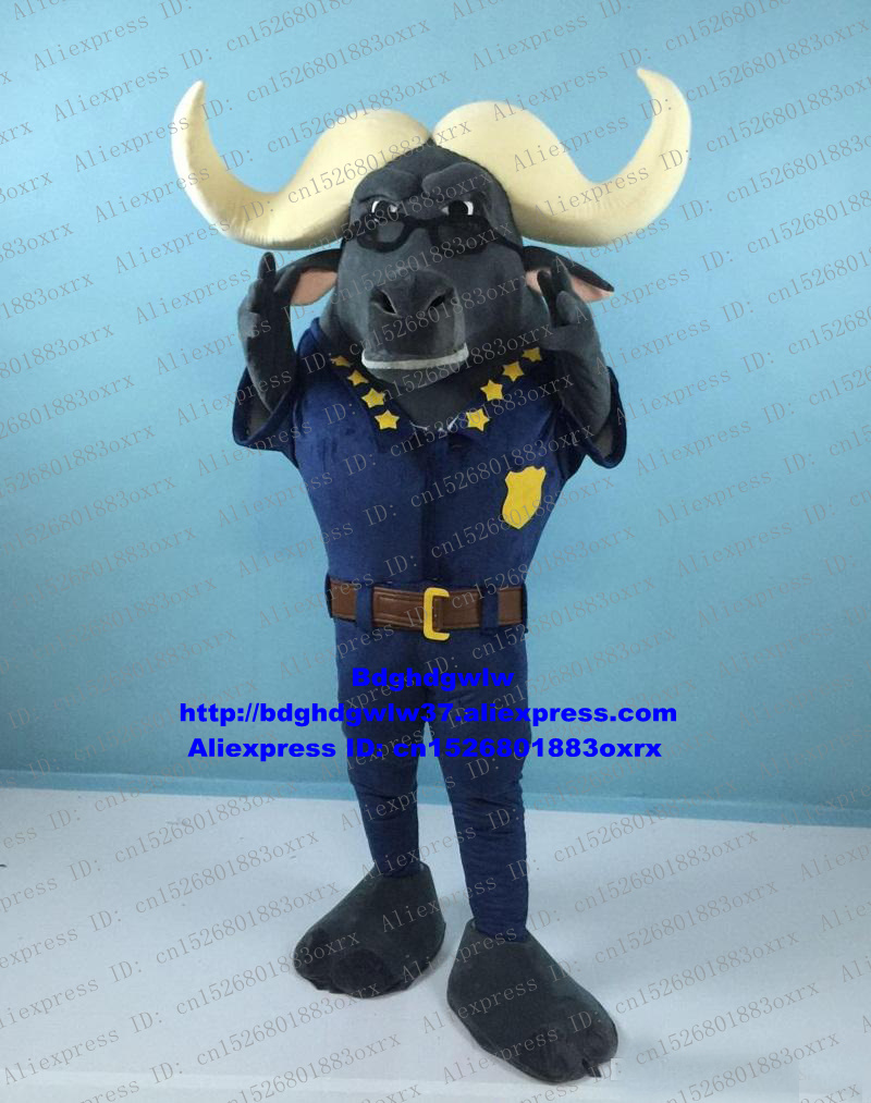 Charitable Dark Grey Kerbau Buffalo Bison Wild Ox Bull Cattle Calf Mascot Costume Adult Character All Saints Day Trade Shows Zx106