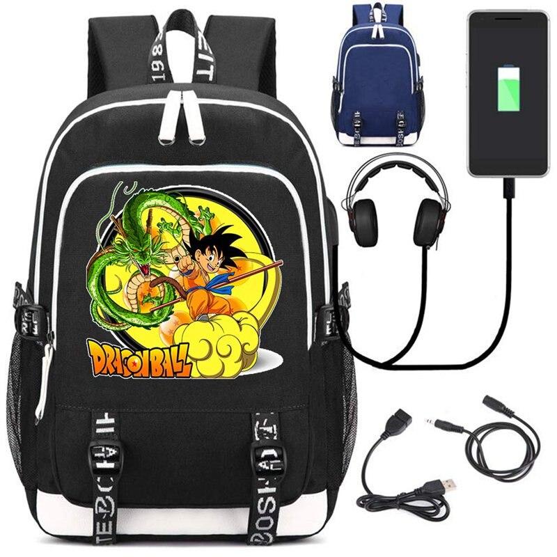 New Anime Dragon Ball Son Goku School Backpack USB Charge Interface Travel Laptop Shoulder Bag Super Saiyan Kakarotto Bags GiftNew Anime Dragon Ball Son Goku School Backpack USB Charge Interface Travel Laptop Shoulder Bag Super Saiyan Kakarotto Bags Gift