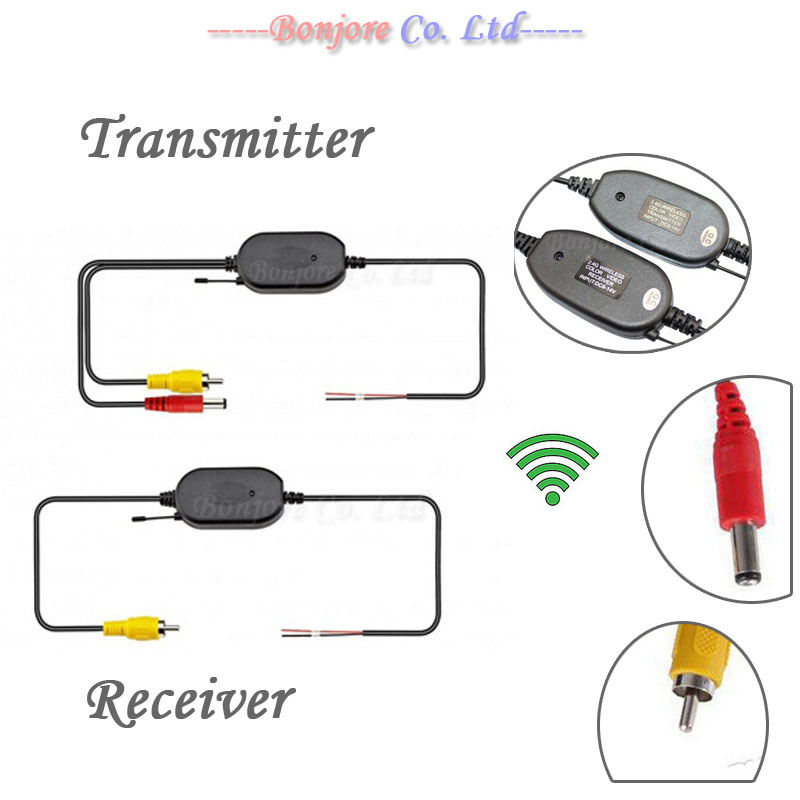 2.4G Wireless transmitter and receiver for Car Reverse Rear View backup Camera and Monitor Parking Assistance|receiver transmitter - title=